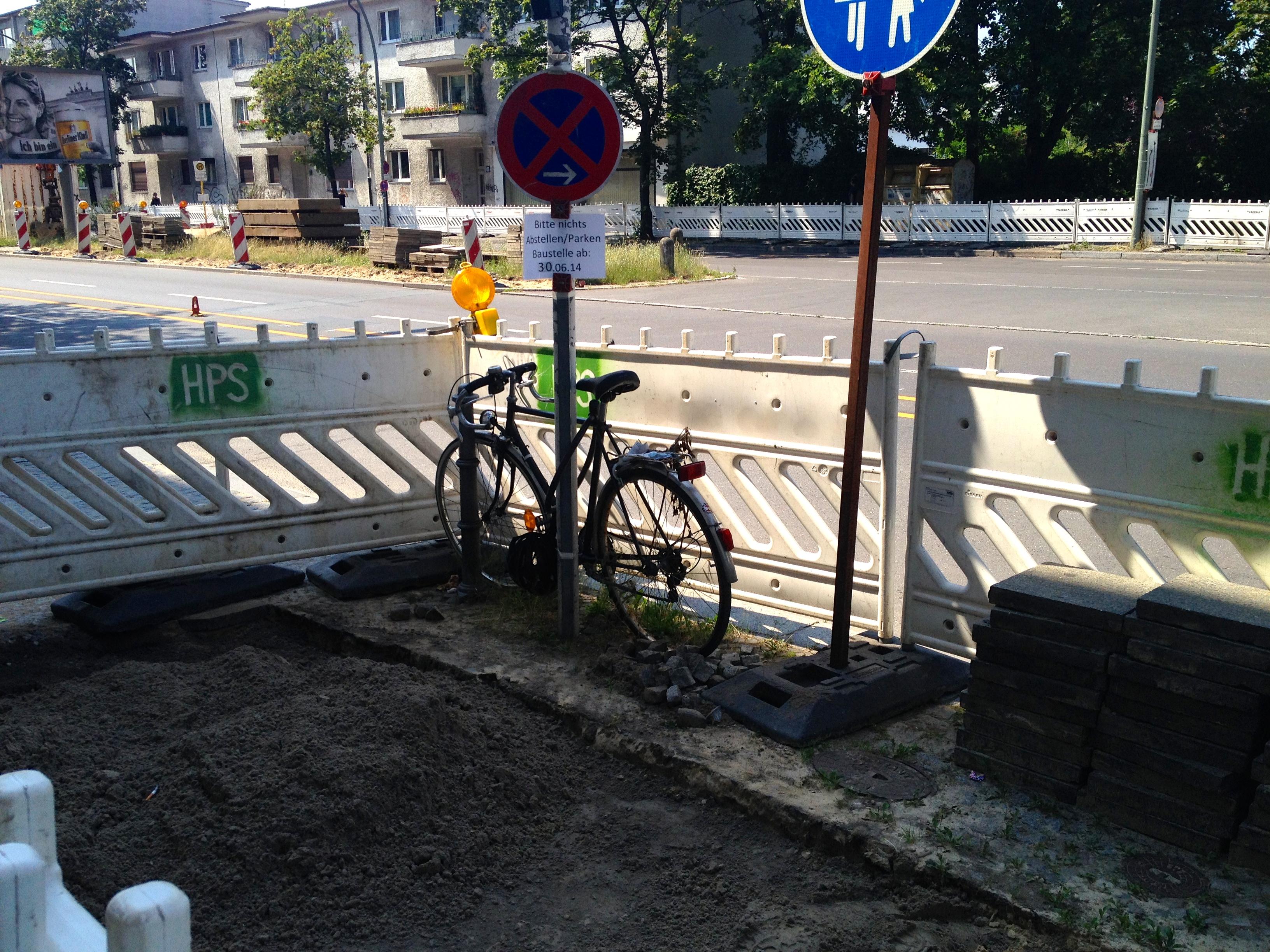 Ein Fahrrad in Berlin