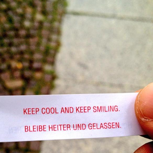 Keep cool and keep smiling